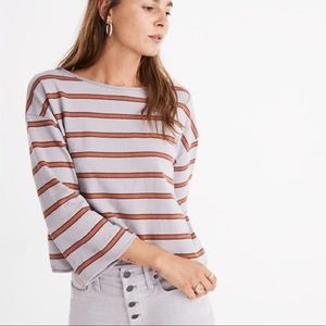 Madewell Striped Cropped Sweater